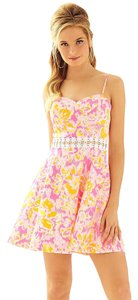 Lilly Pulitzer short dress Kir Royal Pink Ooh La La Lenore Cut-out Easter Summer on Tradesy