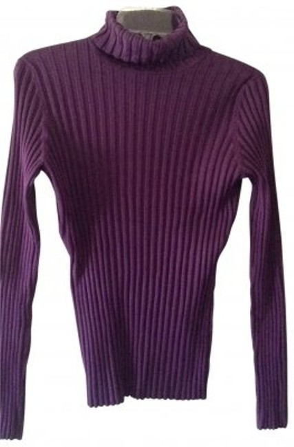 Preload https://item5.tradesy.com/images/inc-international-concepts-plum-silk-ribbed-sweaterpullover-size-10-m-191829-0-0.jpg?width=400&height=650