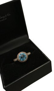 Macy's R.H. Macy & Co. Fine Jewelry - Sterling Silver 18K Blue Topaz Ring