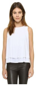 Susana Monaco Sleeveless Jersey Layered Top White
