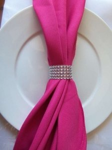 300 Rhinestone Wedding Bling Napkin Rings