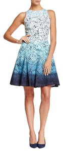 Maggy London short dress Blue White Ombre on Tradesy
