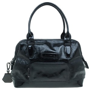 Longchamp Patent Leather Classic Doctor Satchel in Black