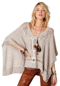 Free People Slouchy Sweater Cardigan Cape