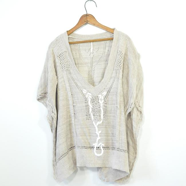 Free People Slouchy Sweater Cardigan Bohemian Knitted Cape