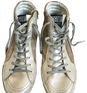 Golden Goose Deluxe Brand Suede Sneackers silver Athletic