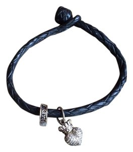 King Baby Leather Wrap W/ Crystal Heart