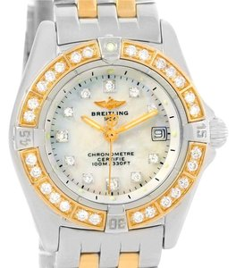 Breitling Breitling Windrider Calisto Steel 18K Yellow Gold Diamond Watch D72345