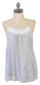 Aerie Floral Lace Lounge Cami Small Top Gray