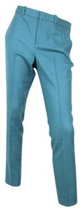 Gucci Wool Cashmere 319327 Skinny Pants Teal
