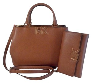 Michael Kors Florence Trifold Wallet Satchel in Luggage