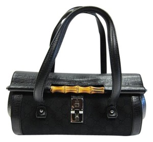 Gucci Monogram Bullet Bamboo Made In Italy Baguette