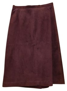 Terry Lewis Suede Skirt wine