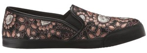 Alice + Olivia Jacquard Pink & Gold Flats