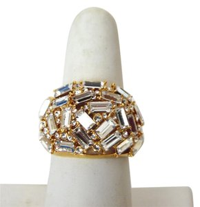 Real Collectibles by Adrienne Real Collectibles by Adrienne Crystal Baguette Dome Ring