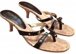 Guess black and gold Sandals