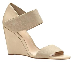 Vince Camuto Elastic Wedge Taupe Wedges
