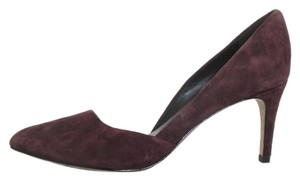 Rebecca Minkoff Suede Heel Pointed Toe Pump Burgundy Pumps