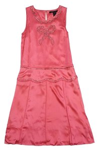 Marc Jacobs short dress Pink Rhinestone Silk on Tradesy