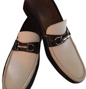 Salvatore Ferragamo Brown/white Flats