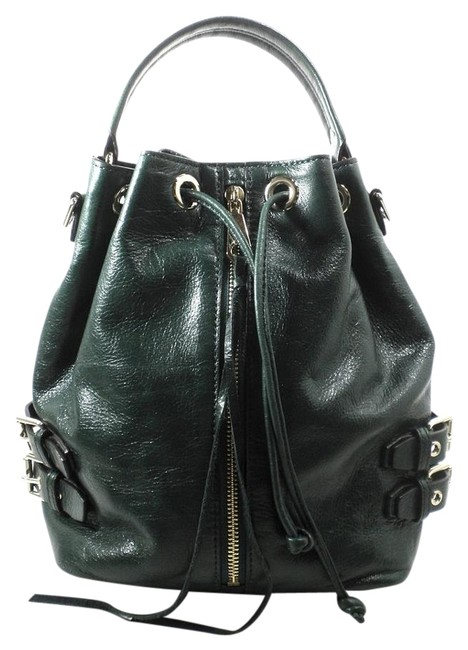 Item - Bucket Forest Patent Green Leather Shoulder Bag
