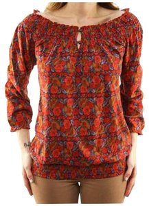 Lucky Brand Floral Top Red