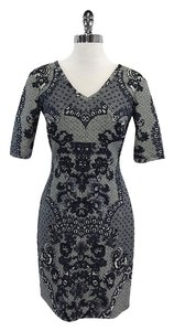 Yoana Baraschi short dress Navy White Lace Print on Tradesy