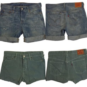 Levi's Cut Off Shorts Blue and Brown
