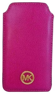 Michael Kors Fulton Pebbled Leather Phone Case Fits iPhone 6 NWT Fuschia