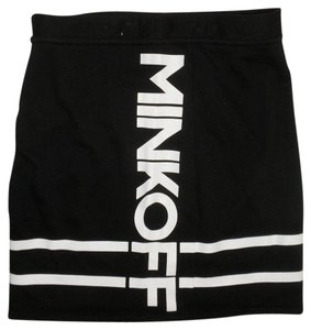 Rebecca Minkoff Logo Mini Stretchy Mini Skirt