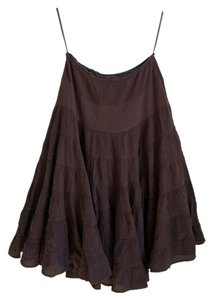 INC International Concepts Tiered Ruffled Ruffles Maxi Skirt Brown