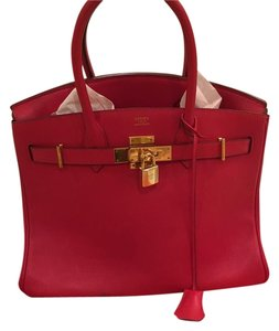 Herms Tote in Red