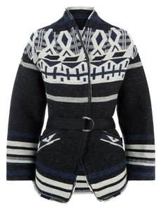IRO Navajo Aztec Boho Wool Holiday Pea Coat