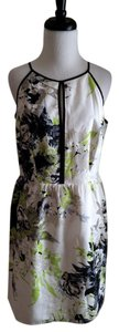 Laundry by Shelli Segal short dress Multicolor White Sleeveless Print Silk on Tradesy