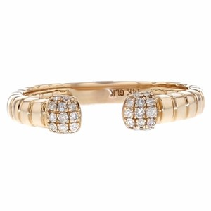 Other 0.12ct Diamond 14k Rose Gold Ribbed Open Ring
