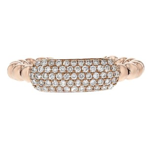 Other 0.39ct Round Cut Diamonds 14k Rose Gold Midi Ring One