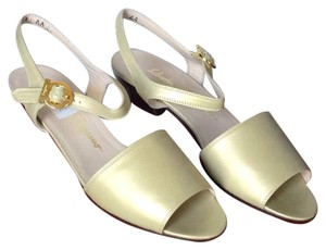 Salvatore Ferragamo Platinum Calf Sandals