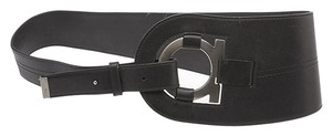 Salvatore Ferragamo Salvatore Ferragamo Black Leather Belt, Size See Measurements (98630)
