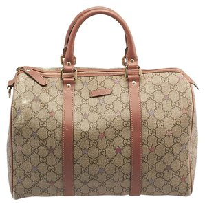 Gucci Leather Coated Canvas Satchel in Multi-Color