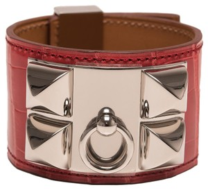 Hermès Hermes Bougainvillier Alligator Collier De Chien (CDC) Bracelet Small