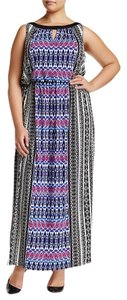Black Blue Maxi Dress by Maggy London