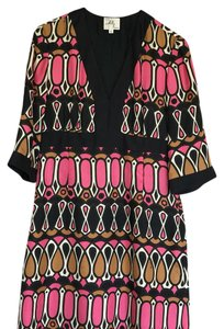 MILLY short dress Black/Pink Multi on Tradesy