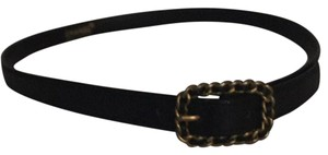 Chanel Chanel All leather chain link buckle belts