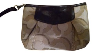Coach Clutch Wristlet in Brown
