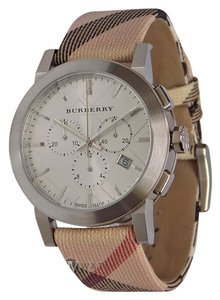 Burberry BRAND NEW MENS BURBERRY (BU9357) CITY LEATHER STRAP NOVA CHECK WATCH