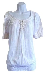 Faded Glory Plus Xl 1x Boho Bohemian Top White