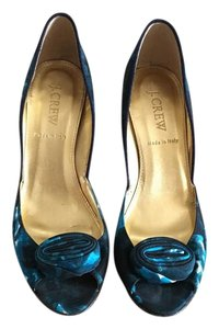 J.Crew Blue Print Pumps