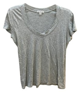 James Perse V-neck T Shirt Heather Grey