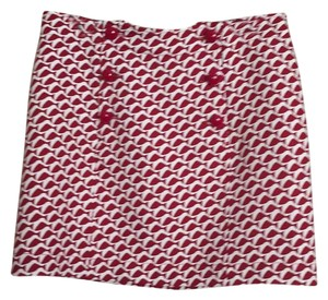 Vineyard Vines Mini Skirt White wirh red design