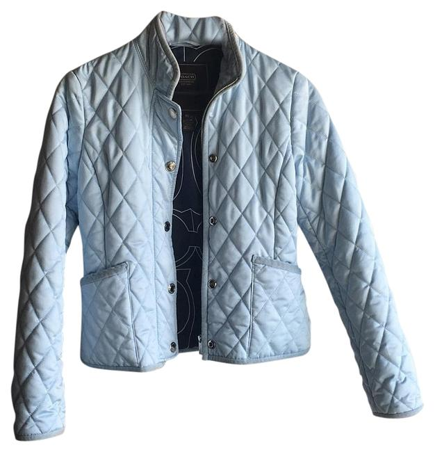 Item - Sky Blue Quilted Jacket Size 0 (XS)